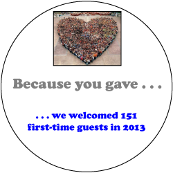 We Welcome 151 First Time Guest in 2013