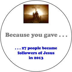 27 People become Followers of Jesus in 2013